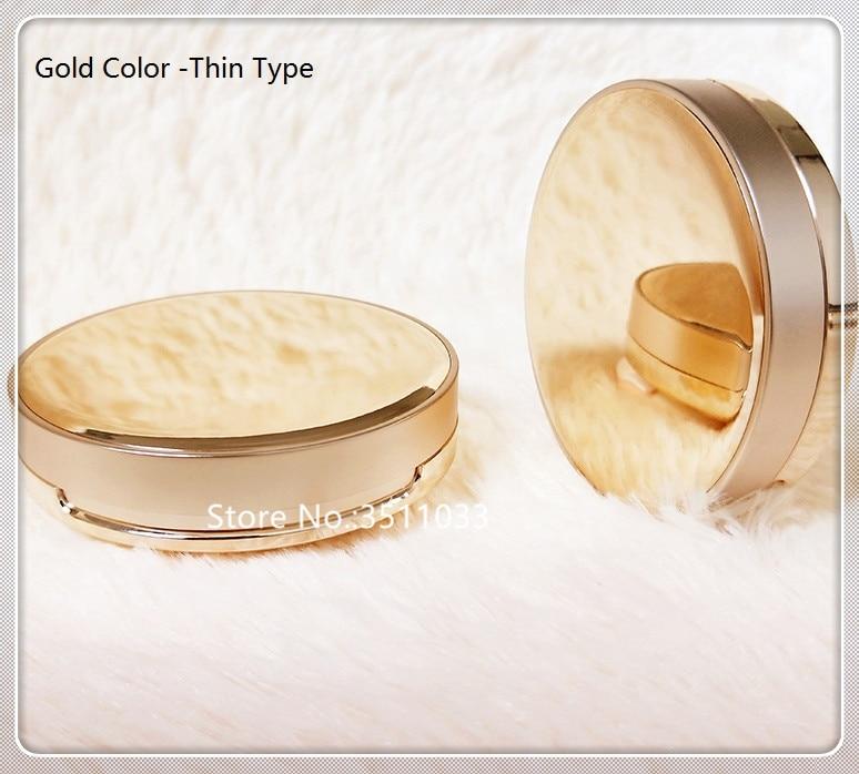 Us 10 22 24 Off 1 Set Diy Empty Cosmetic Ultra Thin Bb Cream Liquid Foundation Case Box Powder Puff Air Cushion Container Mirror Sponge Gold In