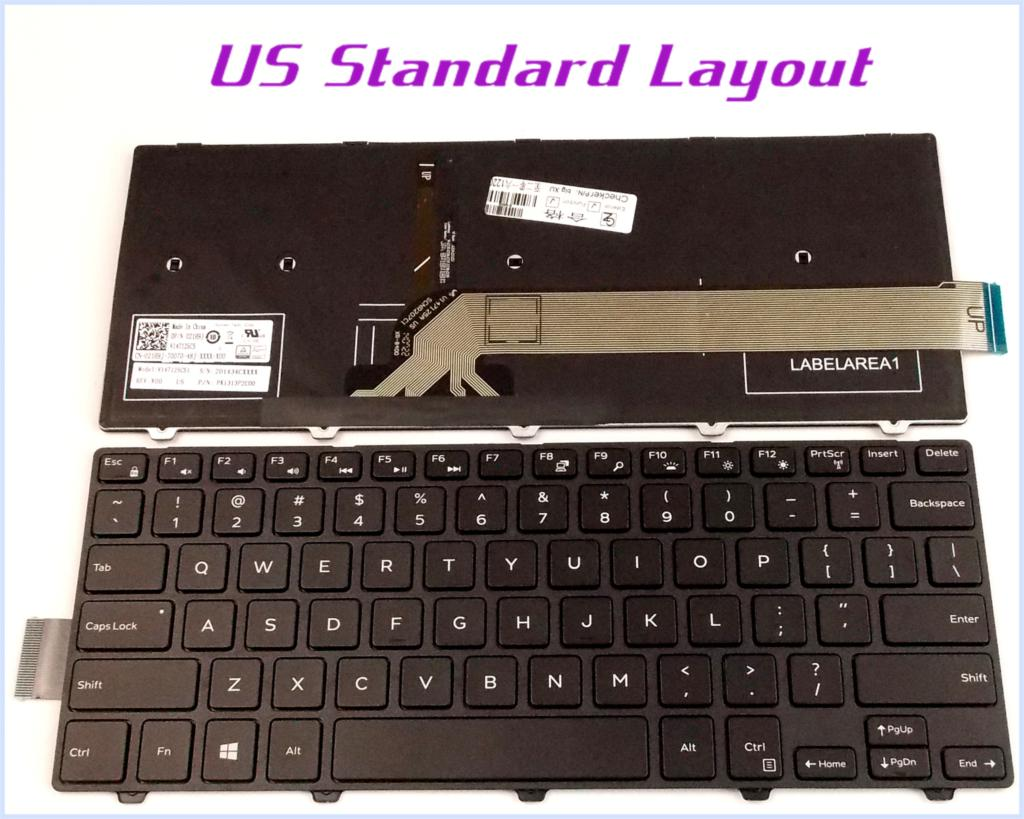 New Us Layout Keyboard For Dell Inspiron 14 3000 Series 3458 1440 Laptop Notebook With Frame Backlit In Replacement Keyboards From Computer Office