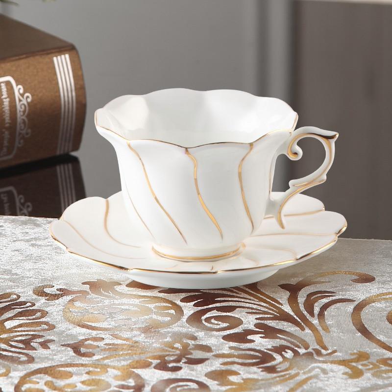 Europa Zlato Inlay Bone Kina Kava Set Britanski porculanski čaj Set - Kuhinja, blagovaonica i bar - Foto 6