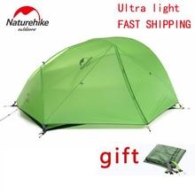 DHL freeshipping Nouvelle 2 Personne Tente de Camping Étanche 20D Silicone Tissu Double-couche Tente 4 saisons Tente NH15T012-T20D