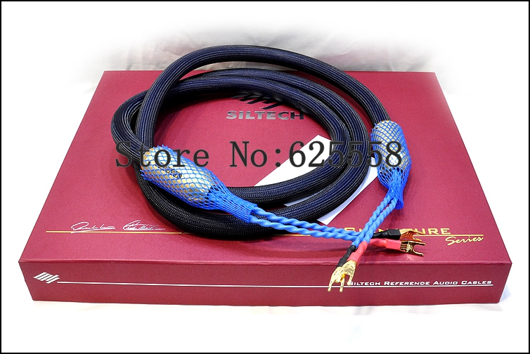 Siltech G7 Emperor Double Crown speaker cable  Audio speaker cable silver-gold 1pair Original box Free DHL shipping the silver crown