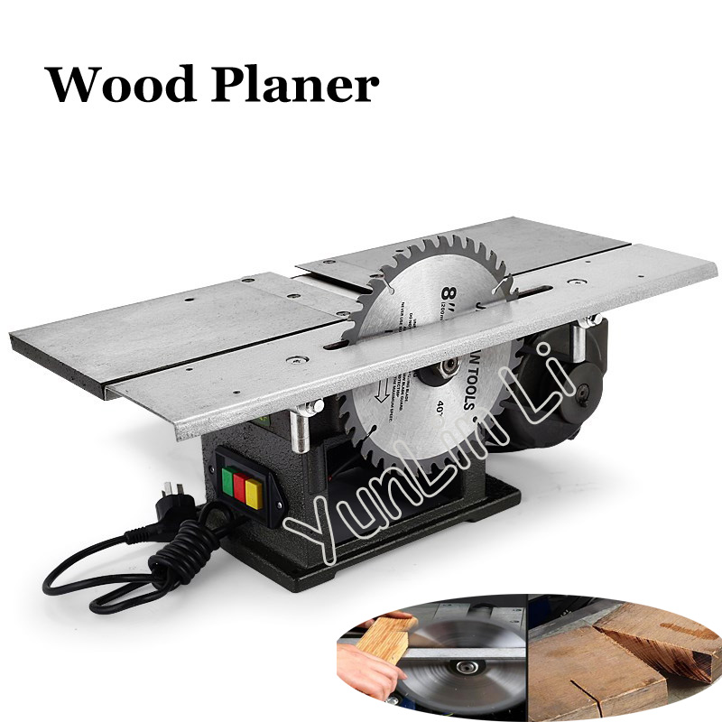Electric Wood Planer 220V 1300W Desktop Planing Machine Multifunctional Woodworking Saw Type 120 household desktop woodworking planer machine multi functional diy electric planer wood planing machine 220v 1pc