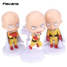 Anime Cute ONE PUNCH MAN Saitama Sensei PVC Figures Collectible Toys 3pcs/set 4