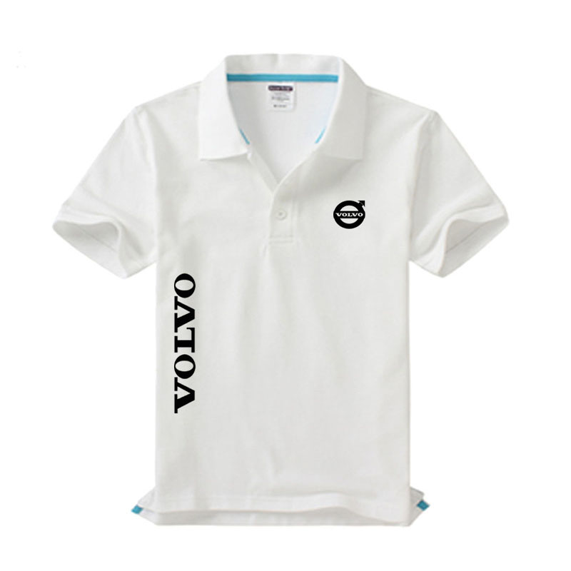 High quality Volvo logo   Polo   shirt brand clothing men's fashion casual   Polo   shirts