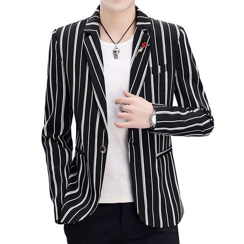 Zogaa 2019 New Spring Mens Blazer Fashion Slim Fit Business  Smart Casual Stripe Suits & Blazers Veste Costume Homme Multan