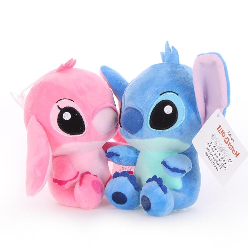 2pcs 18cm Alto quanlity Stitch Plush Toys para niños animales de - Peluches y felpa - foto 3