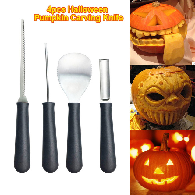 Pcs set pumpkin carving tools kit heavy duty stainless steel