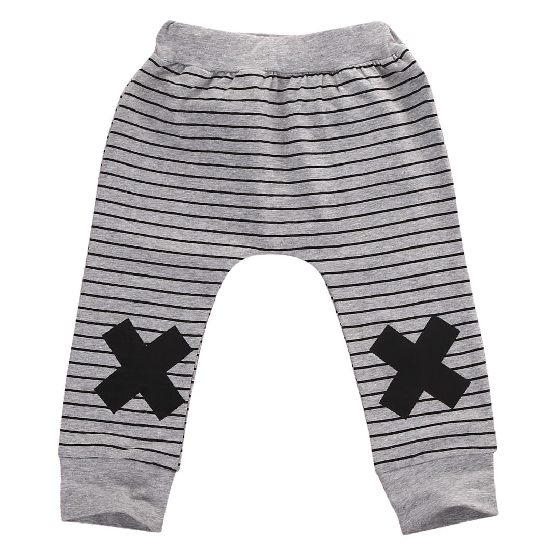 Cute Newborn Baby Boys Girls Bottoms Monster Striped Printed Harem Long Pants Cotton Leggings Trousers