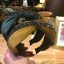 Женский обруч для волос с бантом повязка на голову в корейском