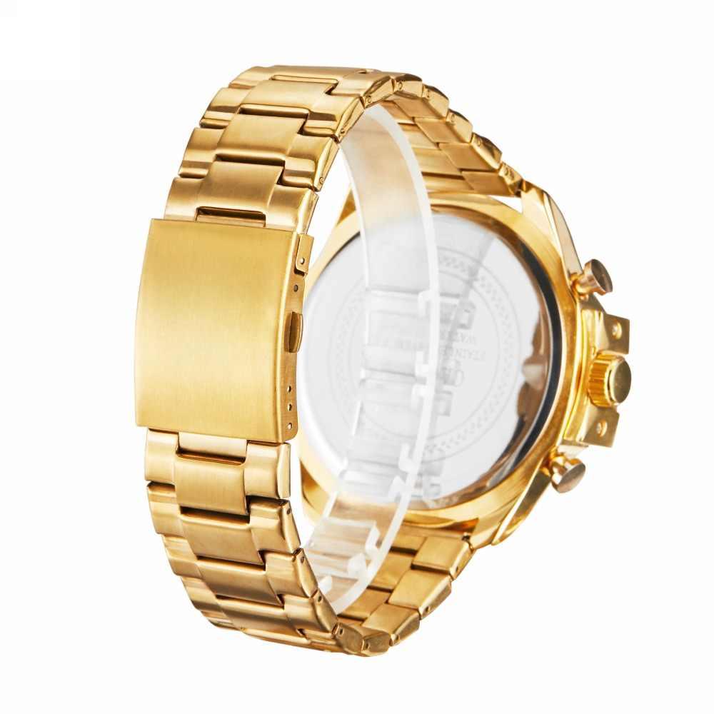 Reloj de pulsera de cuarzo para hombre Cagarny reloj de pulsera deportivo de lujo negro resistente al agua relojes de hombre de acero inoxidable reloj militar