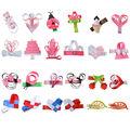 "24PCS 2-2.5"" Hair Bows For Girls baby DIY Ribbon HairClip Cute Hairpins Barrette Boutique Children Hair Accessories XCA012"