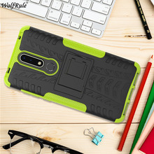 hot deal buy for cover nokia 3.1 plus case tpu & pc holder armor bumper protective phone case for nokia 3.1 plus cover for nokia x3 2018 6''