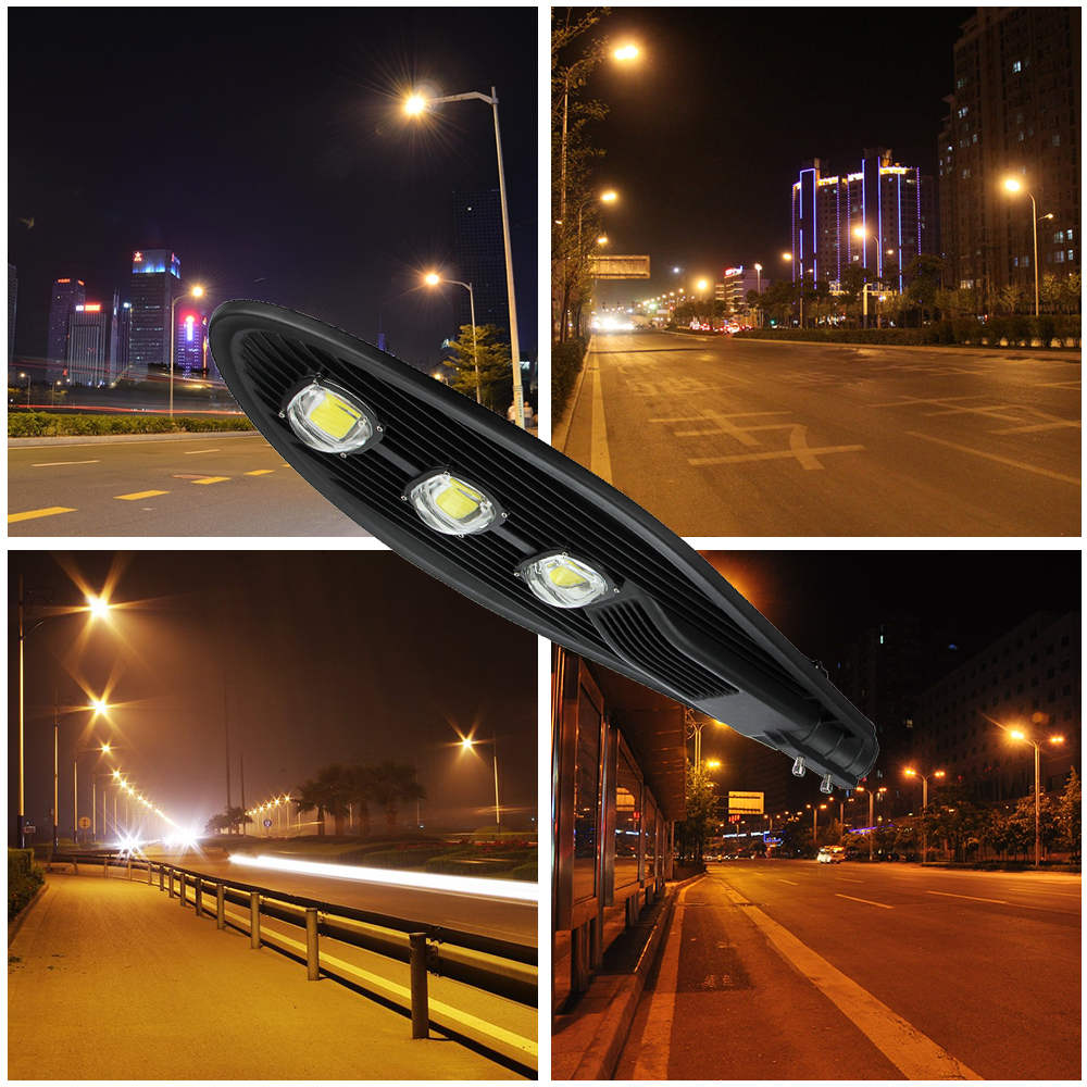 2pcs LED Street Lights 50W 100W 150W Road Lamp Waterproof IP65 ... for Road Lamp At Night  181pct