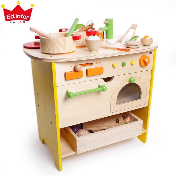 baby toys giappone ed inter grande simulazione cucina giocattoli per bambini educativi giocattoli di legno