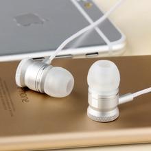Super Bass Earphones Metal Headphones Mobile Computer MP3 Universal 3.5MM headphone amazing sound Free shipping