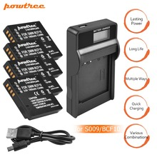 4Packs DMW-BCF10 Li-ion Battery 3.6V 1400mAh+1Port Battery Charger with LED For Panasonic DMW-BCF10E DMW BCF10 BCF10 DMC-FS1 L15 dste dmw bcf10gk bcf10e bcf10 s009e battery charger for dmc ft1 ft3 ts3 fs4 fs6 fs7 camera