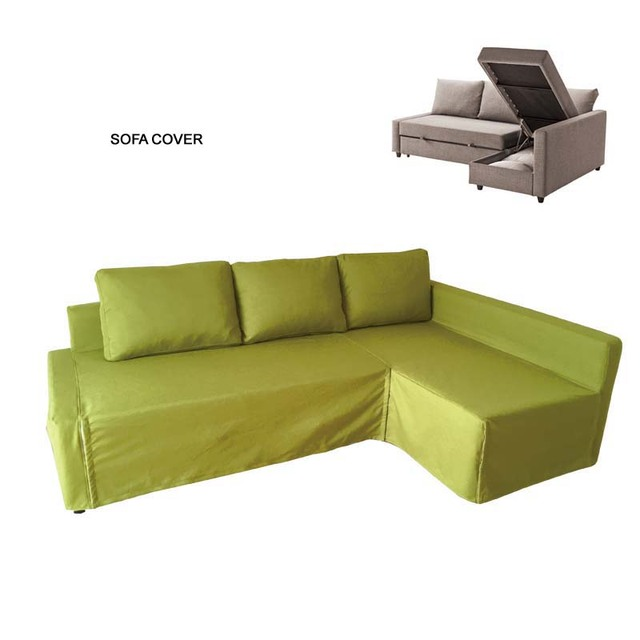 Professional 3 Seat Corner Sofa Bed Cover Only Customize