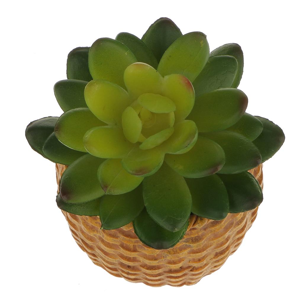 Artificial Succulent Fairy Plant Stone Lotus Flower Foliage DIY Decor Green