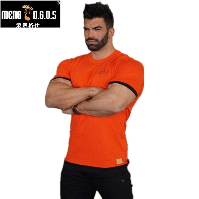Brand muskel gutter Herre treningsstudio T-skjorte bodybuilding og fitness menn bomulls singlets topper T-skjorte i overstørrelse, t-skjorte