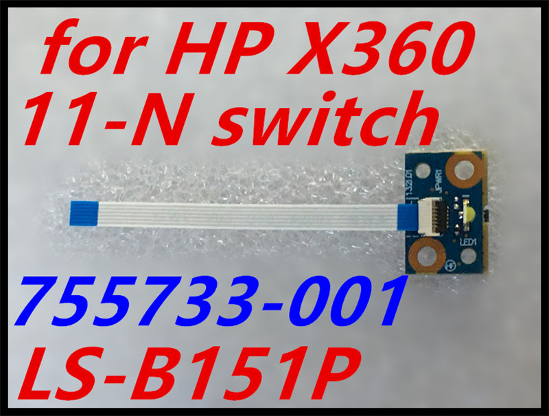Genuine NEW For HP Pavilion X360 11-N Series 11-n011dx Power Button Board With Cable 755733-001 LS-B151P