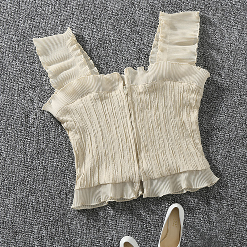 Shintimes 2018 New Summer Autumn Bustier White Black Tank Top Female Sexy Bandage Sleeveless Crop Top