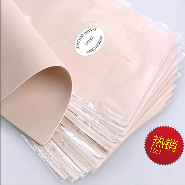 5pcs permanent makeup practice skin silicone material for Artificial skin for tattooing