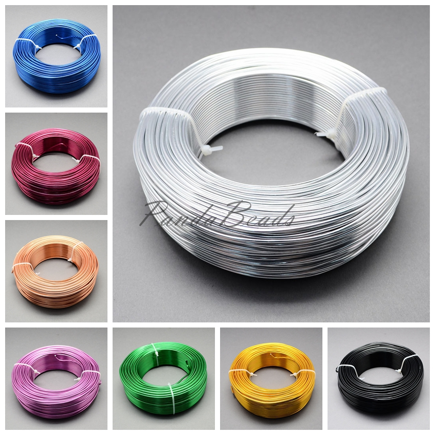 цены 2mm 50m/roll HOT Sale New Aluminum Wire Soft Nice for Jewelry DIY Making Jewelry Accessories Findings Silver Golden Blue Yellow