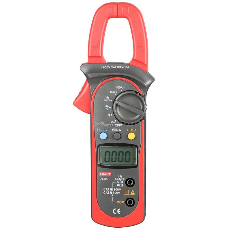 UNI-T Digital Clamp Multimeter UT203 current clamp AC DC 3999 Count 400a voltage Resistance tester LCD Auto-Range clamp meter uni t ut203 ut 203 digital clamp meter multimeter ohm dmm dc ac current voltmeter 400a