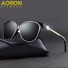 Aoron Polarized gafas de Sol Del Ojo de Gato Mujeres Gafas de Sol Retro Marca de Flores de Diamantes de Gran Tamaño Shades Gafas de Sol gafas de sol oculos