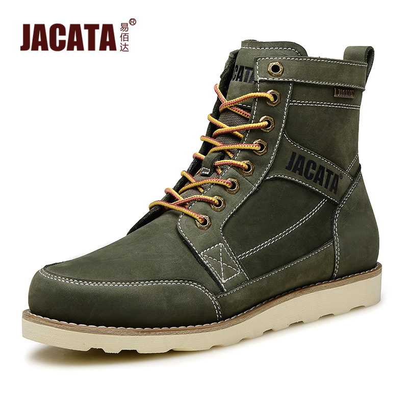 JACATA Autumn Winter Cool Black Boots For Men 2016 British Style ...
