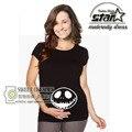 Lindo Camisetas Casual Embarazo Mamá Ropa de Maternidad Embarazada Con El Bebé de Impresión Camisas Divertidas De Maternidad 100% Algodón