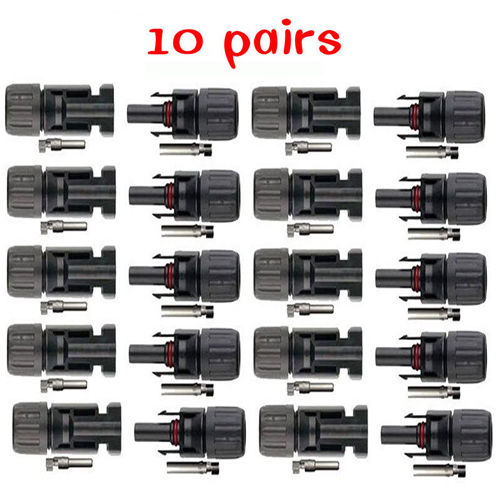 5 Pairs MC4 30A Male Female M//F Wire PV Cable Connector Set Solar Panel IP67 USA
