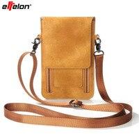 Effelon Phổ PU Leather Di Động Vai Túi Điện Thoại Pocket Wallet Pouch Trường Hợp Đeo Cổ Cho Samsung/iPhone/Huawei/LG