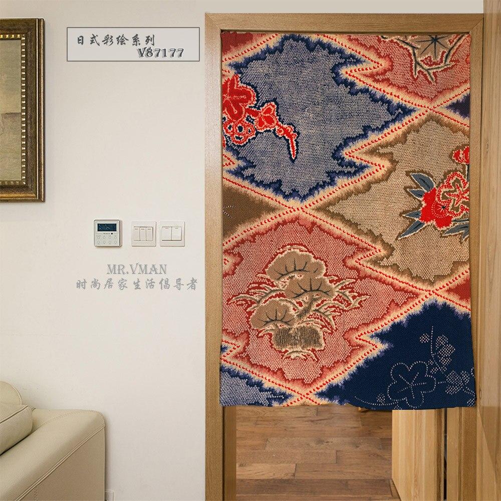 rideaux de porte avec motif dessin couleur japonais rideau de porte decoratif en polyester impression numerique pour la maison 8