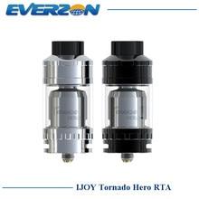 100% original ijoy tornado atomizador rta y sub tanque ohm hero 5.2 ml kennedy-estilo de flujo de aire w/trc-bobina 0.3ohm enorme vapor