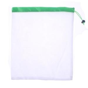 Image 4 - 3+6+3=12 Pcs Reusable Grocery Shopping Bag Adjustable Nylon String Bag Fruit Vegetable Storage Mesh Produce Kitchen Storage Bags