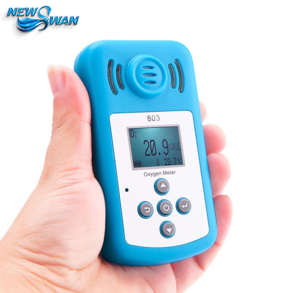 NEW Oxygen Meter Portable Oxygen(O2) Concentration Detector with LCD Display&Sound-light Alarm Air Quality Monitor Gas Analyzer
