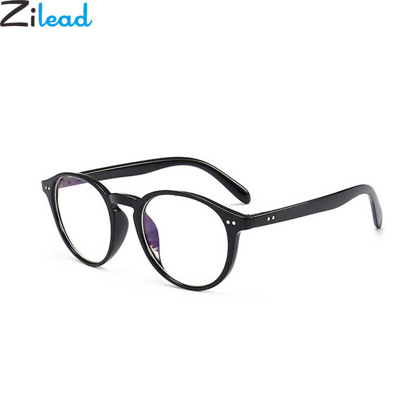 dbcbad496d1 Zilead Retro Round Full Frame Reading Glasses Women Men Clear Lens  Presbyopic With Diopter Eyewear Frame Myopia