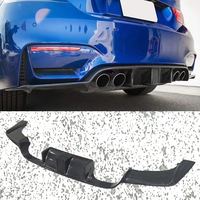 K F Style Carbon fiber Bumper Rear Diffuser Lip Fit For BMW F80 M3 F82 M4