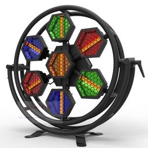 Image 2 - 2 unidades/lote de luces LED de alto brillo, 500W, a todo Color, Retro, luz de fiesta de música, 1600K