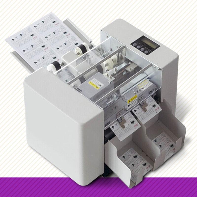 A4 Size Automatic Business Card cutting machine 80W paper card ...