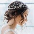 Элегантная повязка для волос  диадема для невесты с золотым и серебряным жемчугом  ювелирные изделия для волос  свадебные аксессуары для во...