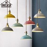 Colors Pendant Lights Modern Home Lighting Fixtures Vintage Kitchen Island Bedroom Ceiling Lamp Antique LED Shop