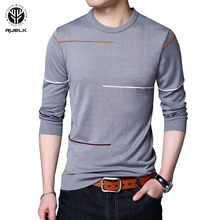 RUELK 2018 Cashmere Sweater Men Brand Clothing Mens Sweaters Print Hang Pye Casual Shirt Wool Pullover Men Pull O-Neck Dress(China)