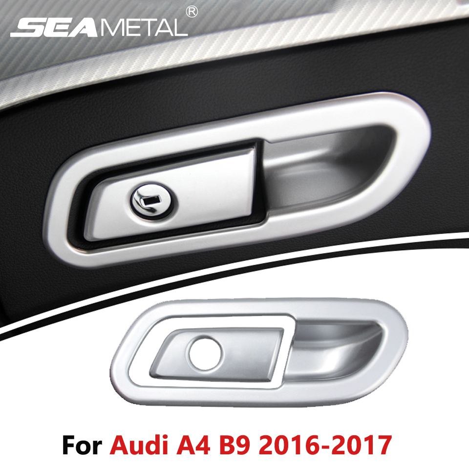 Lhd for audi a4 b9 sedan saloon 2016 2017 car storage box switch cover frame dashboard