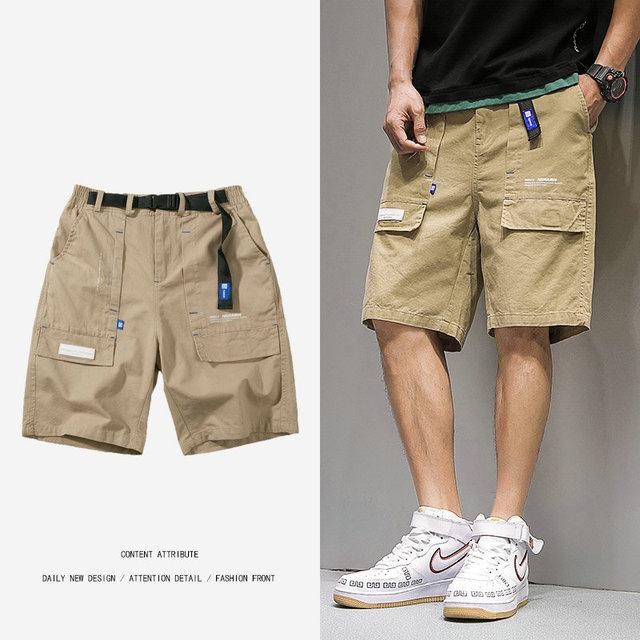 34534b3c1534 2019 pantalones cortos informales de verano para hombre, algodón hasta la  rodilla hombre