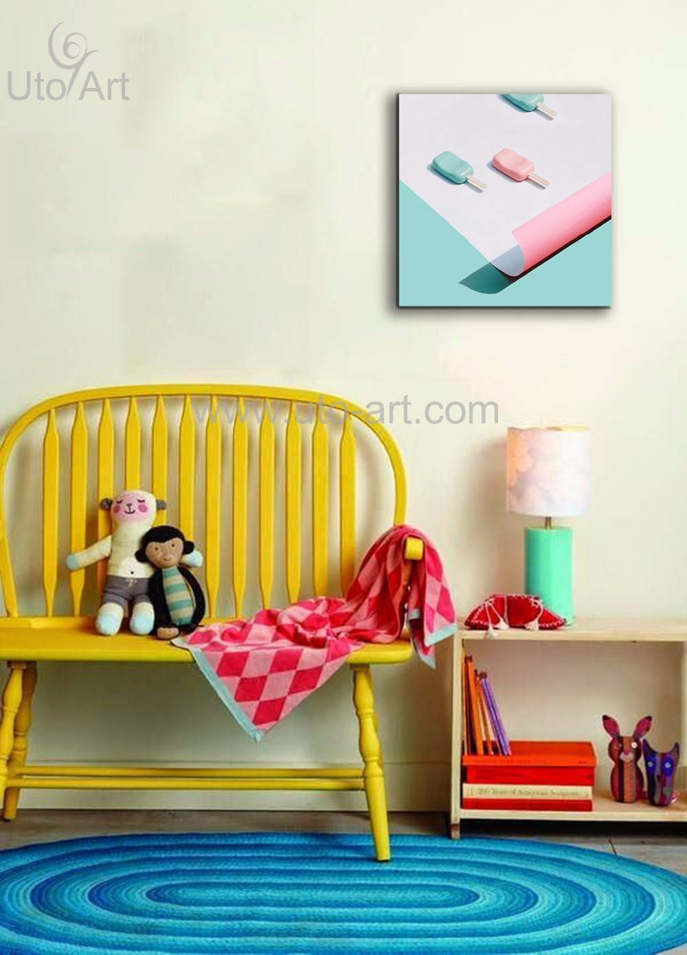 Dropship Home Decoration Pieces Wall Art Prints Painting Macaron ...