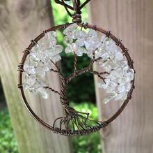 White Crystal stone Natural birthday Gift lovers child Women spirituality men Pendant Copper girl handmade Necklace