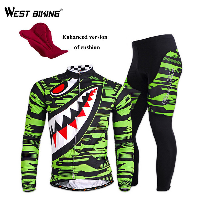 WEST BIKING Waterproof Riding Bike Jacket Pants Suit Breathable Gel Padded MTB Road Bicycle Jerseys Cycling Jersey Clothing santic men s cycling hooded jerseys rainproof waterproof bicycle bike rain coat raincoat with removable hat for outdoor riding