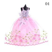 98db43c7f8 8 kolorów elegancka dama mody suknia ślubna suknia księżniczka słodkie  odzież dla lalki dla dziewczynek prezent